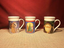 Royal Norfolk China Set of 3 Holiday Mugs