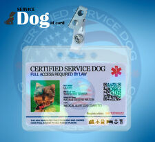 HOLOGRAPHIC SERVICE DOG ID CARD FOR SERVICE MEDICAL EMOTIONAL PTSD ANIMAL ADA