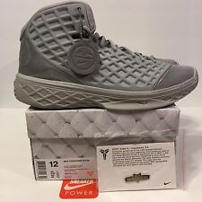 New Nike Zoom Kobe 3 III Sz 12 Silver Fade To Black Pack FTB QS Mamba 869453-004