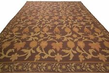 "Stark Antique Bessarabian Needlepoint Rug  Woven Rare Purple 11'4""x13'7"" C.1960"
