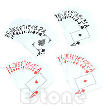 1*Waterproof Poker New Blue 100% PLASTIC Size Washable Playing Cards Texas Poker