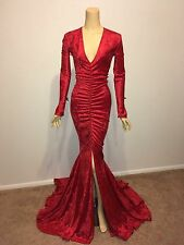 Drag Queen Burlesque Red Show L/XL 14 16 Stage Dress Gown