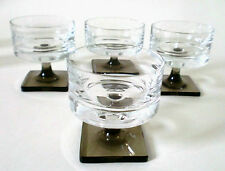 "50s set of 4 Rosenthal Glas ""Berlin"" H 6,5 cm Georg Butler Jensen liqueur glass"