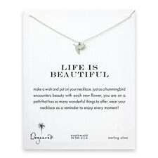 "Dogeared Life Is Beautiful Sweet Hummingbird Sterling Reminder 16""Necklace"