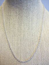 "16"" Adjustable Thin Plain Silvertone Chain Necklace-Wear as is or Add a Pendant"