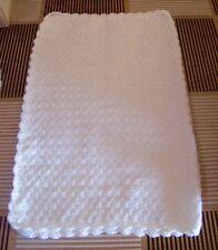 couverture POUR LIT  bébé 60 X 80 cm laine hypoallergénique fait main en France