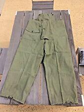 WWII USGI Deck Trousers  N140 Medium  OG 13 Star Metal Buttons