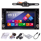 "6.2"" Car Stereo DVD Player Double Din Radio HD Bluetooth GPS Navigation+ Camera"