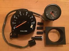 "Volvo 240 245 TACHOMETER GAUGE & 2"" CLOCK UPGRADE KIT SET TURBO RARE Large Tach"