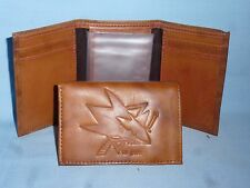SAN JOSE SHARKS   Leather TriFold Wallet   NEW!  br2 n
