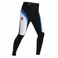 2016 Mens Cycling Winter Thermal Tight Pants 3D Padded Trousers Waist 32-34 inch