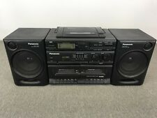Panasonic RX-DT610 Portable Stereo Boombox Radio CD - Radio - Dual Cassette!