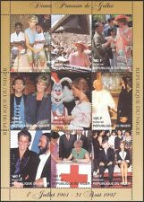 Niger 1997 Princess Diana/Red Cross/Medical/Welfare/Health/Royalty 9v sht b2891