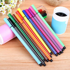 12 Colors Kids Art Watercolor Pens Painting Stationary Study Supplies Fantastic