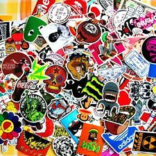 Job lot of 25x mixed étanche autocollants skateboard camper logo cartoon rude vw