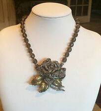 "HEIDI DAUS ""ROSE ELEGANCE"" SWAROVSKI CRYSTAL NECKLACE CLASSIC BEAUTY & ELEGANCE!"