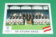 N°103 TEAM SK STURM GRAZ AUTRICHE PANINI FOOTBALL CHAMPIONS LEAGUE 1999-2000