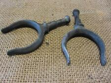 Vintage Cast Iron Row Boat Oar Guide Set of 2   Antique Old Fishing Boating 8888