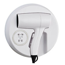 WALL MOUNTED HAIR DRYER WITH SHAVER SOCKET 1200W HOTEL DRAW TOILET BATHROOM
