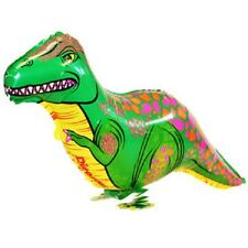 T-REX DINO WALKING BALLOON DINOSAUR FOIL HELIUM PET PARTY AIRWALKER NEW GREEN
