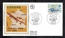 Aviation Cover FDC 1979 French Planes Stamp Aeroplane Avion Silk Cachet