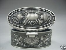 Collectibles Old Decorated Handwork Miao Silver Carving Jewelry box mk