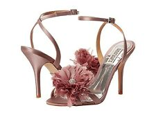 NIB Badgley Mischka KAROL Wedding Bridal heel sandals open toe shoes Lavender 7