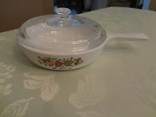 Corning Ware 6.5 In. Saucepan/ Skillet w/Lid Spice of Life Free Shipping