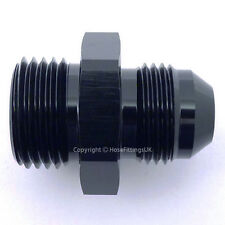 AN -6 (AN6) BLACK JIC Flare to 1/8 BSP BSPP STRAIGHT Hose Fitting Adapter