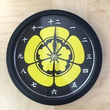 Kamon Japanese Family Crest Oda Mokko 9 - 9.5 inch Wall Clock