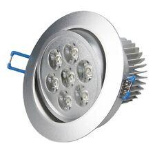 """7x 1W  LED Einbauleuchte """"RD-7pro"""" 560lm , 230V / Einbaustrahler Spot Downlight"""