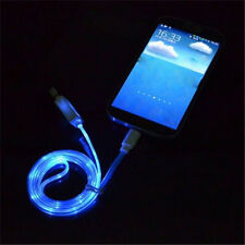Light-up LED USB Data Sync Cable charger for iphone 5/5s/6/6s/plus Blue US342