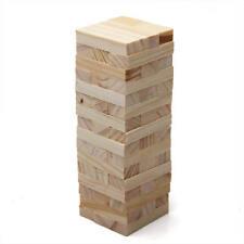 Wackelturm 48 Stück Bauklötze Holzbauklötze Holzbaustein Geschicklichkeit