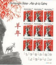 CHINA CALENDAR LUNAR NEW YEAR OF THE GOAT 山羊中国新年 URUGUAY 2015 MNH FULL SHEET