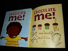 Taye Diggs & Shane Evans signed Chocolate Me! 1st printing softcover kids book