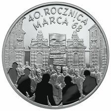 10 ZLOTY 2008  40th Anniversary of March 1968 40. rocznica Marca '68 POLAND
