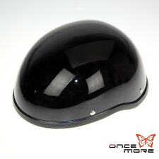 Black Cap Novelty Low Profile Motorcycle ABS Shell Half Helmet For Cruiser biker