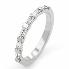 0.50Ct F VS1 Natural Baguette Diamond Wedding Band Bridal Ring PLATINUM 950
