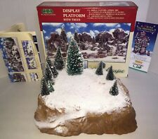 "LEMAX VILLAGE COLLECTION Display Platform With Trees - 11.5"" Complete In Box"