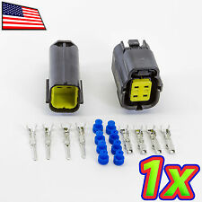 [1x] Denso 2x2P 4 Pin Waterproof 16-20AWG Rugged Automotive Connector IP67