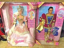 Barbie Fairytale Rapunzel & Prince Ken Doll Mattel 17646 1997 Blonde Pink Dress