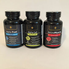 ALPHA FUEL & ALPHA CUT & AMINO MUSCLE Nitric Oxide/Testo Boost/ Muscle Mass NOTE