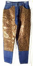 Sz 11 - Jokko Jeans Denim Blue Jeans w/Animal Leopard Print Accents Size 11