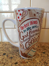 """Abbey Press """"The Best Things in Life are God, Friends & a Hot Cup of Coffee"""" Mug"""