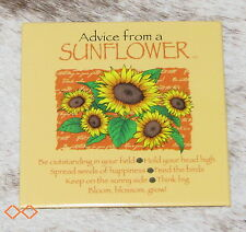 "LEANIN TREE ""Advice From A Sunflower""~#26494 Magnet~Keep on Sunny Side~Think Big"