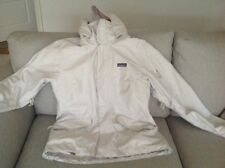 Patagonia ladies activity jacket in white/ beige with pink lining size large