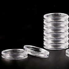 10pcs 23mm Applied Clear Cases Coin Storage Capsules Holder Round Plastic 9c