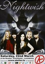 NIGHTWISH TOURPOSTER KONZERTPLAKAT ESCH ROCKHAL LUXEMBURG DARK PASSION PLAY TOUR
