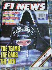 F1 NEWS MAGAZINE MAR 1995 #2 LATEST PIT LANE NEWS WINTER TESTING DAMON'S WORLD T