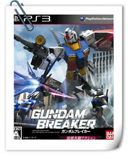 PS3 GUNDAM BREAKER JAPANESE SONY Playstation Action Games Namco Bandai